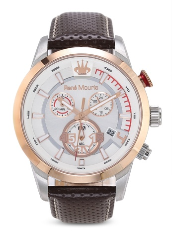 René Mouris brown Vitesse - 44mm Quartz Chronograph Watch CC0D5AC52F1898GS_1