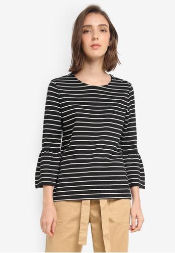 ESPRIT black 3/4 Sleeve T-Shirt E3E31AA93D9950GS_1
