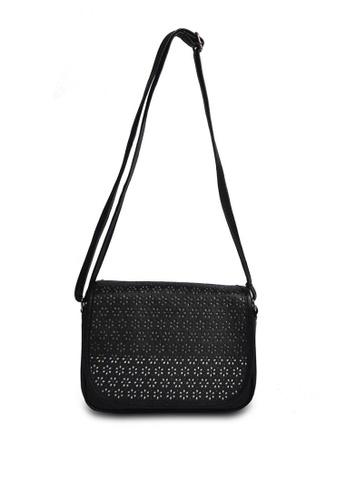 HDY black Vivian Laser Cut Sling Bag HD484AC0K4MHPH_1