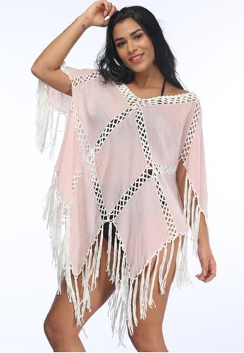 LYCKA pink LTH4111-European Style Beach Casual Top-Pink C1744US01B16B2GS_1