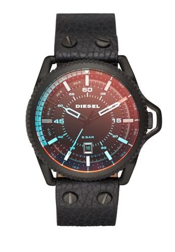Diesel black Rollcage Analog Watch DI095AC0K944PH_1