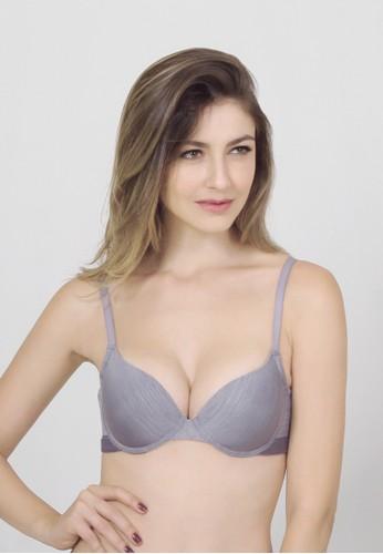 Raquel Lingerie grey Vinette Grey Basic Bra RA363US38VXDID_1