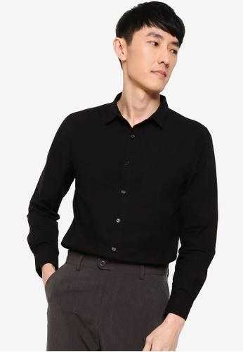 ZALORA BASICS black Slim Fit Work Shirt 873B5AAEC8AAB7GS_1