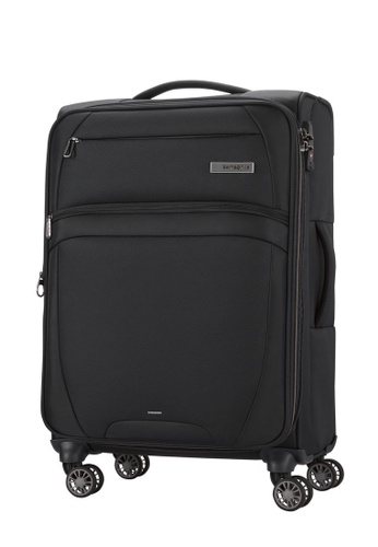 Samsonite black Samsonite Zira Spinner 67/24 EXP Luggage 6F1C6AC7A19E8BGS_1