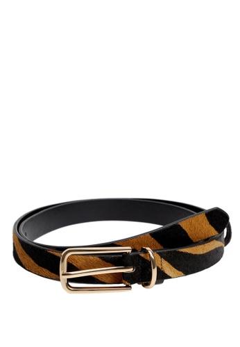 Mango brown Animal Print Leather Belt E5B4CAC410F71BGS_1