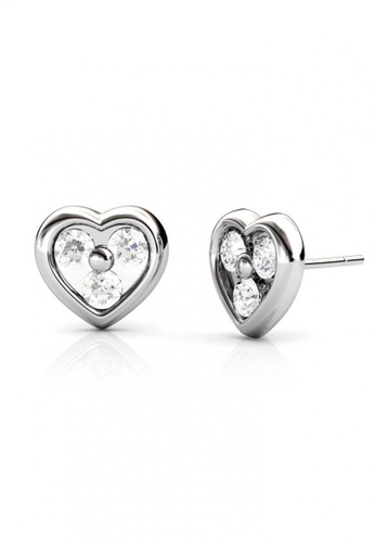 Her Jewellery silver Her Jewellery Heart Earrings with 18K Gold Plated HE581AC0RDQ2MY_1