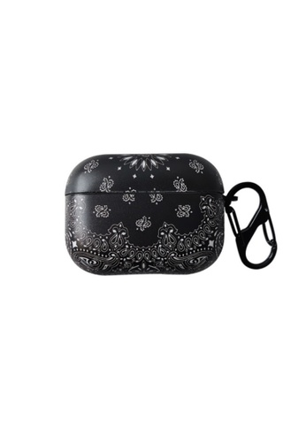 Kings Collection black Flower Pattern AirPods Pro Case (KCAC2169P) ECF41ACAEBC4CFGS_1