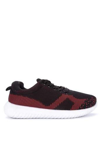 BENCH red Contrast Lace Up Sneakers E5AA1SH8734AE5GS_1