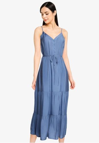 ONLY blue Sky Midi Strap Dress CF78BAA5FEFE67GS_1