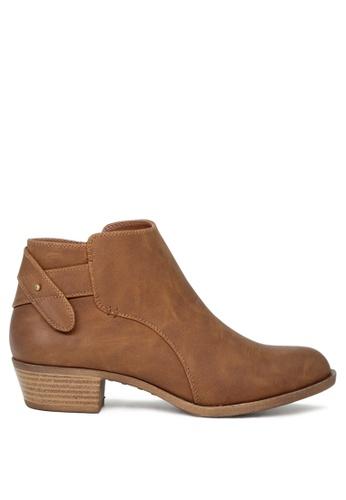 London Rag brown Audrey Cognac Zipper Ankle Boots SH1684 84121SHBFAB38CGS_1