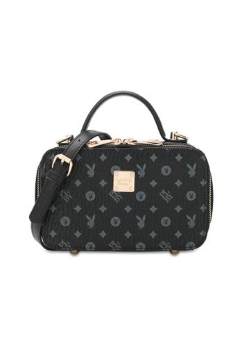 PLAYBOY BUNNY black Top Handle Sling Bag 07838ACDA1B577GS_1