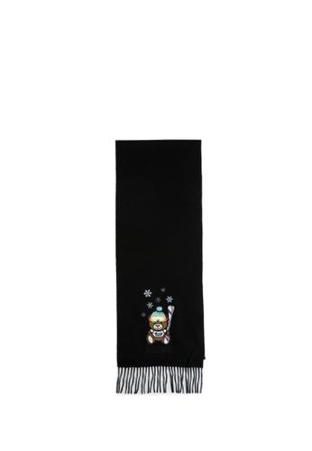 MOSCHINO black Teddy Bear Scarf 5F01DACE51D89FGS_1