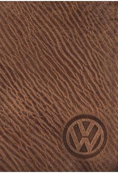 Volkswagen 真皮紋理對折皮夾