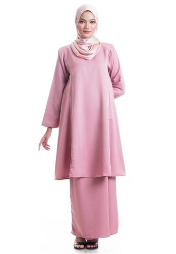 Ashura pink Hanaa Kurung Pahang 52BC7AA6A5AD00GS_1