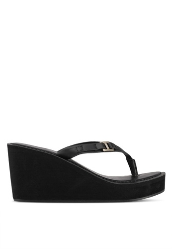 ALDO black Pryri Wedge Sandals 95C60SHE5F8169GS_1