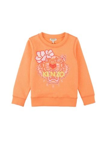 KENZO KIDS orange KENZO TIGER GIRLS SWEATSHIRT 3CFC8KAFFBBF2EGS_1
