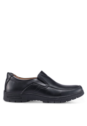 Louis Cuppers black Slip On Dress Shoes DB711SH6EF326AGS_1