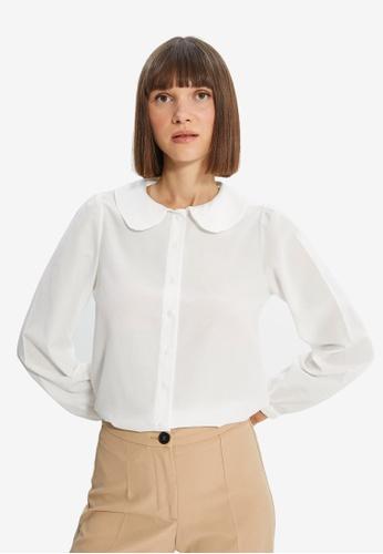 Trendyol white Ecru Shirt 2A234AA32321C6GS_1