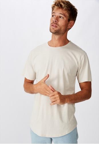 Cotton On grey Longline Scoop Burnout T-Shirt 29A0CAA960A9E5GS_1