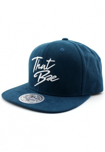 DOSSCAPS white and blue and navy FLIPPER Hypebae Thatbae Snapback (Navy) C95EFAC77B02E2GS_1
