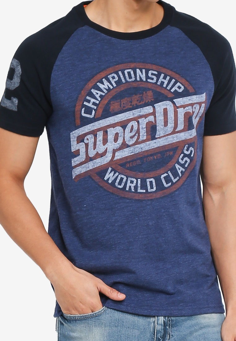 Mid Tee Eclipsnvy Superdry Highlnd Raglan 054 Bluegrit Major League qzwAAU