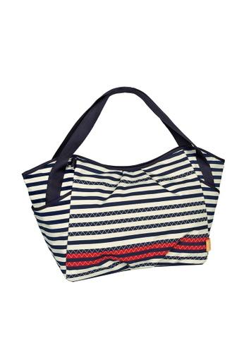 LASSIG white Lassig Twin Diaper Bag(Dotted Lines Ebony) 5484EKCF842EF3GS_1