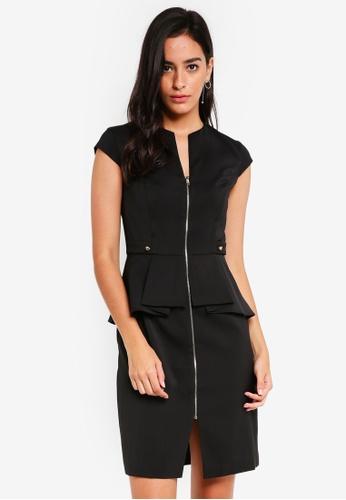 ZALORA black Origami Peplum Dress 85A3DAA511F6E0GS_1