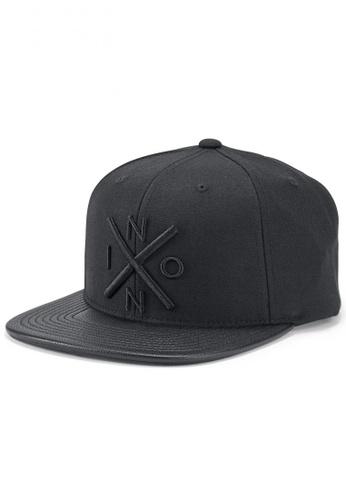 Nixon black Nixon - Exchange Snapback Hat - Black (C20661147)  NI855AC79RRCSG 1 891e3a6ab7f