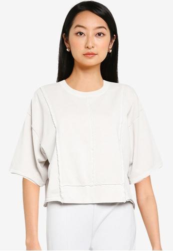 JEANASIS white Seam Knit T-Shirt 196BEAA2FEE193GS_1
