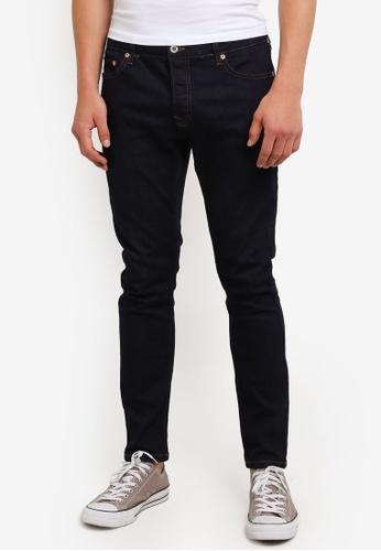 Topman blue Indigo Stretch Skinny Jeans TO413AA41VYSMY_1