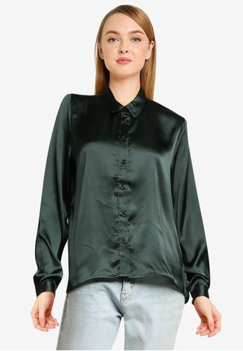 JACQUELINE DE YONG grey Fifi Long Sleeve Short Shirt 4349FAA2F06799GS_1