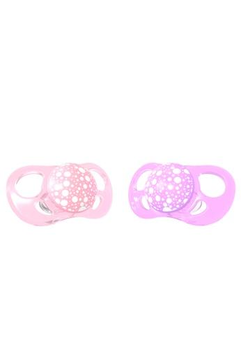 Twistshake Twistshake 2X Pacifier Pastel Pink Purple 6+M B4EB9ESE870D02GS_1