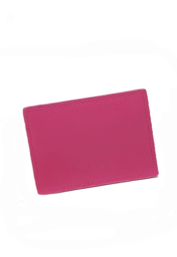 LULUGIFT pink Lulugift New PU Card Holder LU989AC0RMV1MY_1