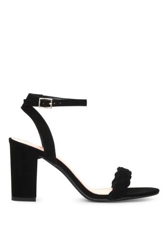 London Rag black Sharon Ankle Strap Sandals 6C601SHAC16DB7GS_1