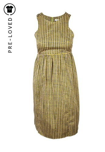 carven yellow Pre-Loved carven Geometric Print Dress 6ED2EAA625AA96GS_1