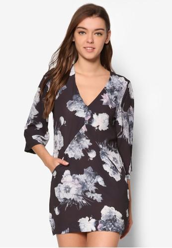 花卉直筒式洋裝, esprit 衣服服飾, 洋裝