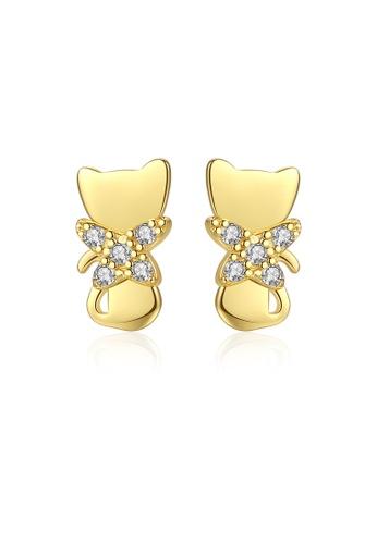SUNRAIS gold High quality Silver S925 gold fashion earrings A0FA1ACE5BCB32GS_1