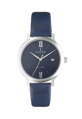 Fjord blue Fjord Women's Genuine Leather Watch - FJ-6048-01 37E33ACDFB74C7GS_1