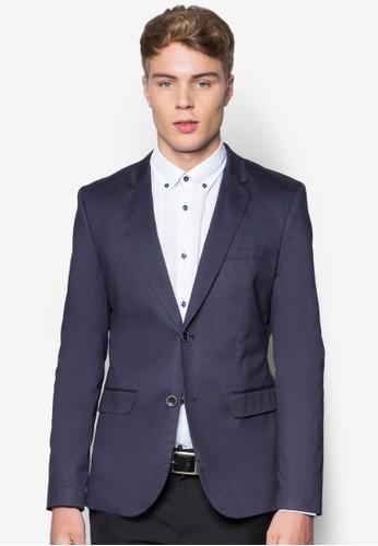 雙鈕棉質西裝外套, 服飾, 休esprit holdings閒西裝外套