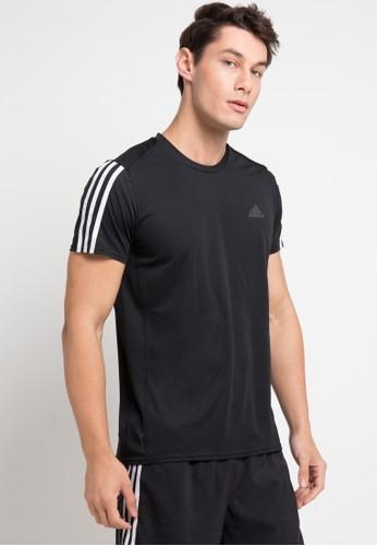 adidas black adidas running 3-stripes tee 87F1AAA2C6115FGS_1