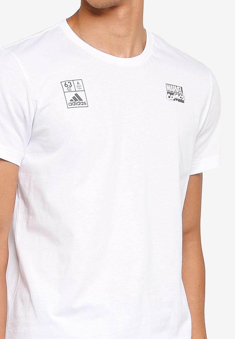 adidas White adidas iron tee man 7Ixxrg