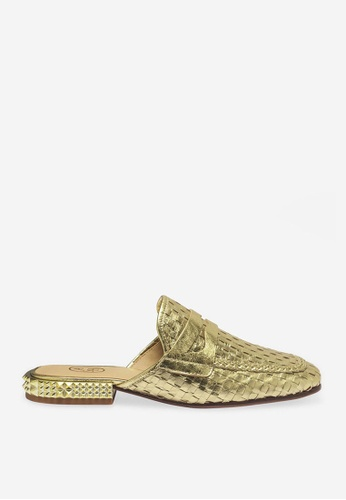 Ash 金色 Eloise - 金色網孔編織平底鞋 AE34CSH45A332DGS_1