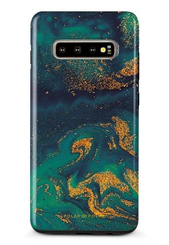Polar Polar green Green Night Quicksand Samsung Galaxy S10 Plus Dual-Layer Protective Phone Case (Glossy) 4AFC1AC4B8B43AGS_1