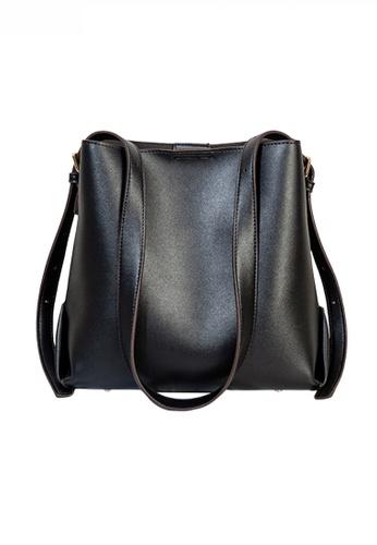 Twenty Eight Shoes black Trendy Faux Leather Three-Way Handbag JW CL-C5236 8A1A6AC17CE950GS_1