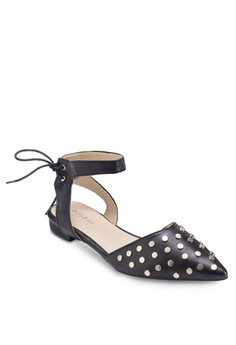 Studded Pointed Tie Flats