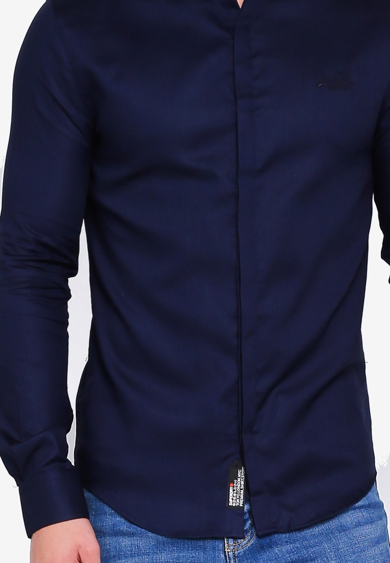 Superdry Slim Premium Shirt Honeycomb Fit Navy zP6zqxwYB