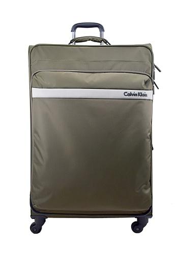 Calvin Klein brown Calvin Klein Flatiron 2.0 20 Inch Spinner  Hard Case Luggage 595B5AC2245C4EGS_1