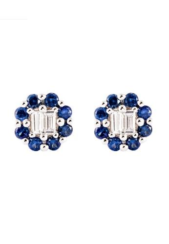 HABIB JEWELS HABIB Augustus Blue Sapphire Diamond Earring AE867AC75FB5C6GS_1