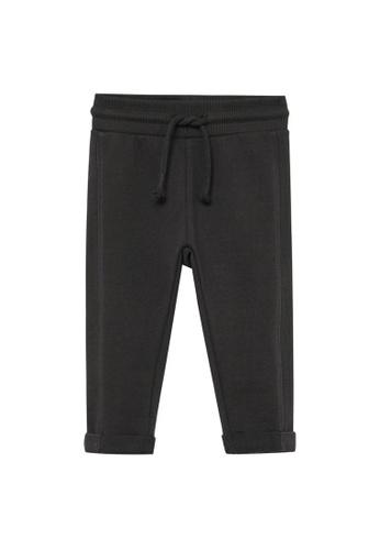 MANGO BABY grey Organic Cotton Jogger Trousers 0B57AKA6BFFE97GS_1