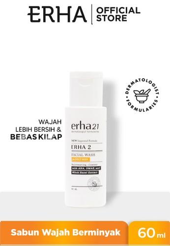 Erha white Erha 2 Facial Wash For Oily Skin With Aha, Dmae & Witch Hazel Extract 60Ml - Sabun Wajah F1C9FES93B953BGS_1